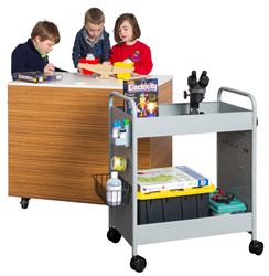 BioFIt STEAM Cart with students and learning resources