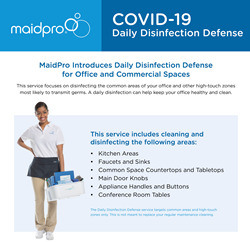 MaidPro Disinfection of COVID-19