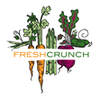 Fresh Crunch logo featuring illustrated vegetables