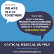 Critical Medical Supply Connects Medical Professionals with Healthcare Supplies to Fight COVID-19 Pandemic