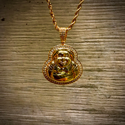 Gold Kings Hip Hop Jewelry Buddha Gold Chain