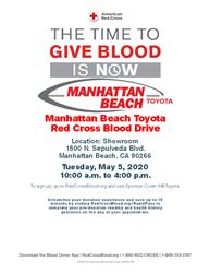 Manhattan Beach Toyota Blood Drive poster