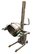 Lifting and Forward Tipping Equipment for Commercial Stainless Steel Mixing Bowls in Bakeries.