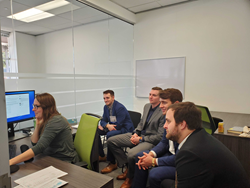 Several WVU staff and students recently visited Pandell's Houston-based office to experience how what they've learned in the classroom translates to the workplace.