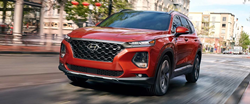 2020 Hyundai Santa Fe driving on a road
