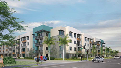 Construction begins for Manchester-Orangewood, affordable housing, resident services for 102 working and formerly homeless families in Haster Orangewood community built by Jamboree Housing Corporation and City of Anaheim in a public-private partnership.