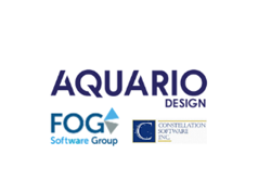 Aquario, FOG Software and Constellation Software logos