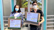 Hollywood teenage talents Alex Nia and Magnolia Wu donating children's masks to Penny Lane Centers during COVID-19 coronavirus