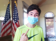 Hollywood teenage talent Alex Nia supporting wearing a face mask and donating masks during COVID-19 coronavirus pandemic