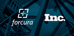 Forcura logo and Inc. logo