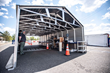 Aluminum Shapes Drive Through Testing Shelter at Mt. Ephraim Test Center