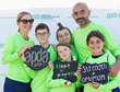 Family fun while raising funds and awareness! Walkers pose for a photo at a 2019 APDA Optimism Walk!