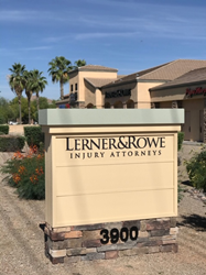 Lerner and Rowe Injury Attorneys Chandler monument sign
