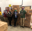 Local healthcare workers at Monument Health in Rapid City, SD receiving shipments of over 18,000 essential face shields and PPE items from McKie Ford Lincoln