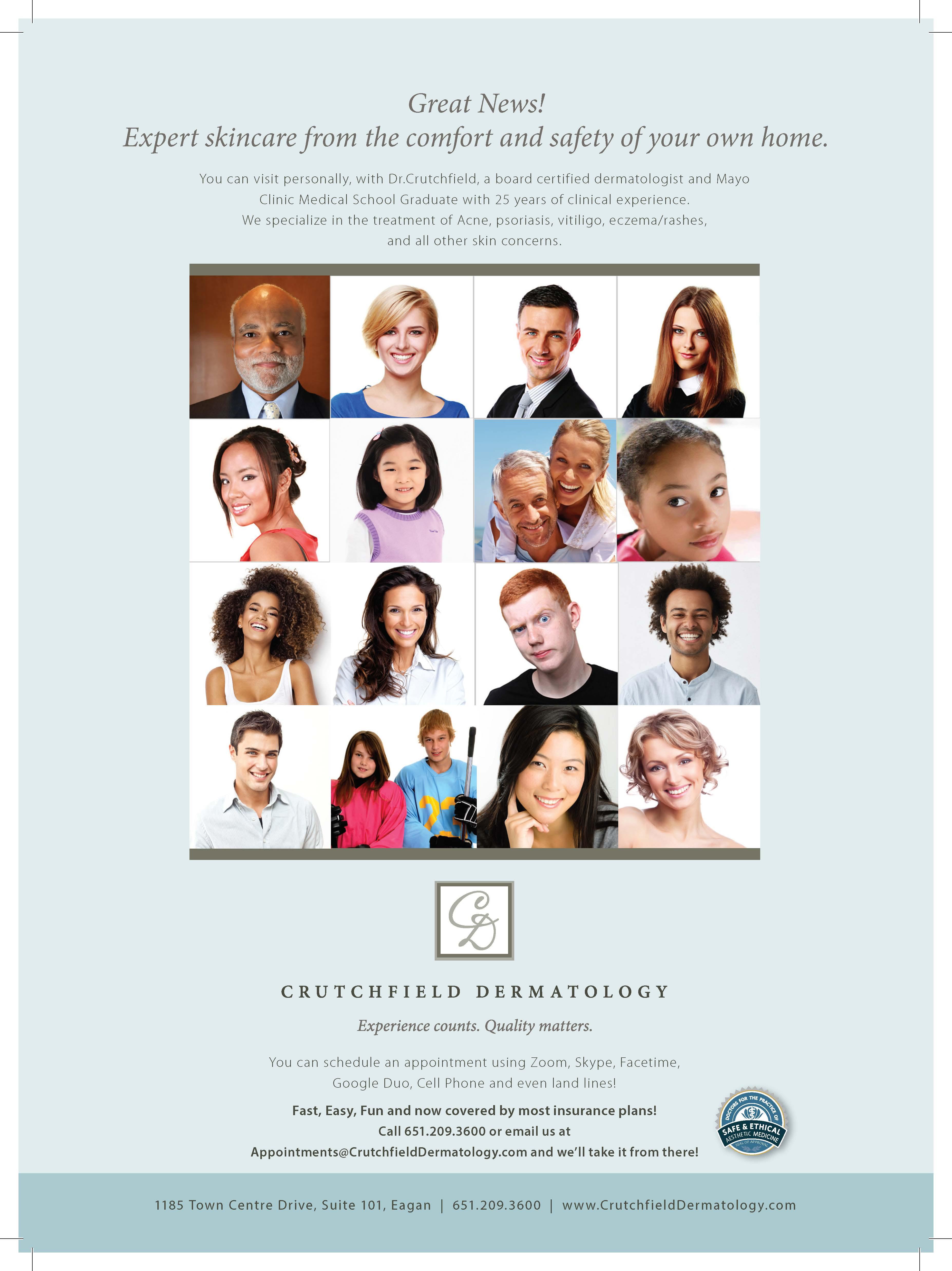 Crutchfield Dermatology Virtual Ad 2