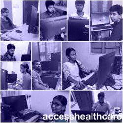 Access Healthcare associates working from home.