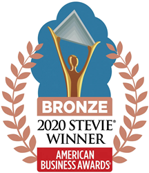 2020 Bronze Stevie Award winner logo.
