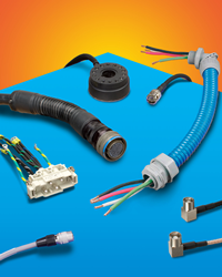 Cable Harnesses & Assemblies can incorporate wire from 30 AWG to 500 KC mil, various boots, insulations, and connectors, plus important services.