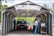Aluminum Shapes Drive Through Testing Shelter