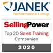 Janek Performance Group Takes Top 20 Sales Training Company Honors for Seventh Straight Year