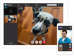 Veterinary clinics can now connect with clients and patients with secure Video Chat from PetDesk.