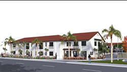 The 2691 W. La Palma Conversion by Jamboree & City of Anaheim will provide 69 studio apartments for veterans, those with mental illness, & formerly homeless, the City's first conversion to supportive housing under its new motel conversion ordinance