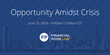 """Opportunity Amidst Crisis,"" a Live Three-Act, Three-Hour Webinar 'Play' Dramatizes Options for Distressed Businesses in Post-Covid Trough"