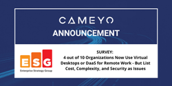 Cameyo and ESG survey about Digital Workspaces
