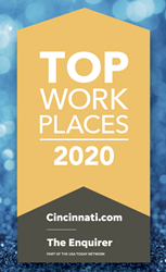 Photograph of the Top Workplaces 2020 logo