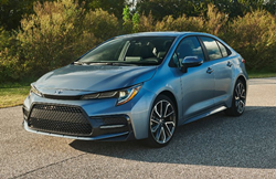 2020 Toyota Corolla going down the road