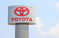Toyota sign outside