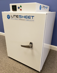The LiteSheet LED UV-C Sanitizing Cabinet optimally positions germ and virus killing UV-C LED modules inside the cabinet eliminating blind spots and sanitizing contents within minutes.