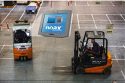 noax introduces a new logistics industrial computer with an integrated UPS battery for forklifts and industrial vehicles.