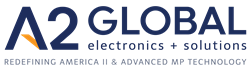 Official Logo of A2 Global Electronics + Solutions - Redefining America II & Advanced MP