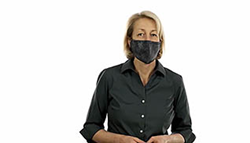 person wearing a mask for covid-19 prevention
