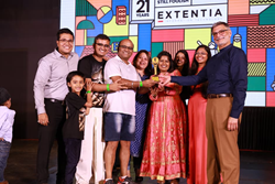 fivestar* President Lou Camerlengo celebrates Extentia's 21st anniversary in Pune, India in March 2020.