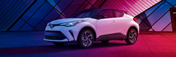 2020 Toyota C-HR in red and blue light