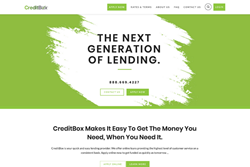 CreditBox's New Homepage