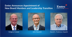 Emtec announces appointment of new board members and leadership transition.