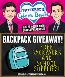 Patterson Legal Group Topeka Backpack Giveaway