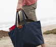 Outbound Canvas Tote — large, navy waxed canvas