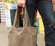 Outbound Canvas Tote  — medium; brown waxed canvas