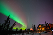 The northern lights dance above the Aurora Borealis Lodge just north of Fairbanks. Photo: Sherman Hogue/Explore Fairbanks