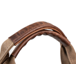 Handles lined with full-grain distressed leather