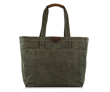Outbound Canvas Tote — large, forest green