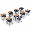 Virco 785 Classroom Desks and Chair Packages