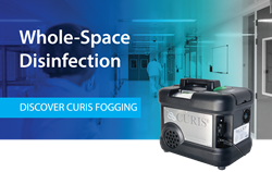 The CURIS Decontamination System for SARS-CoV-2 (COVID-19) whole area mobile virus decontamination