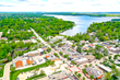 Aerial view of Delafield, WI