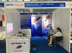 LCR-Reader booth at Nepcon Asia