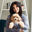 Princely Pup Founder Stacy Feldman with her dog, Jagger